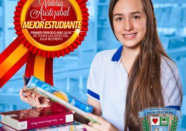 Mejor estudiante de todas las sedes del Julia Restrepo (1er periodo año 2016)